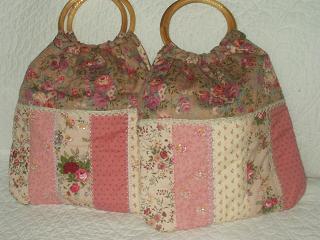 ピンクのグラニーバッグ
